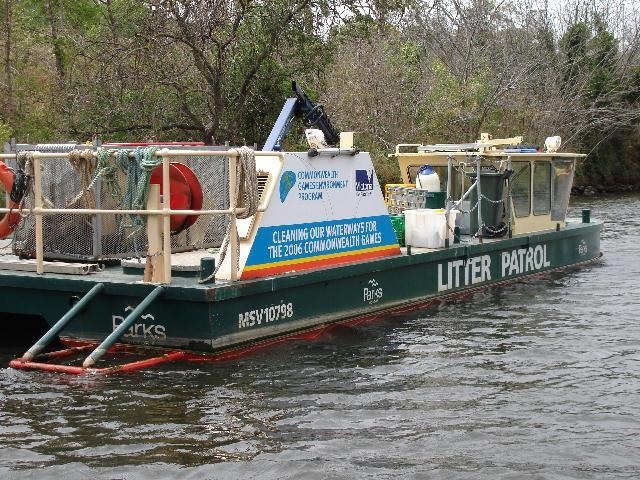 Parks Dept Litter Collection Boat