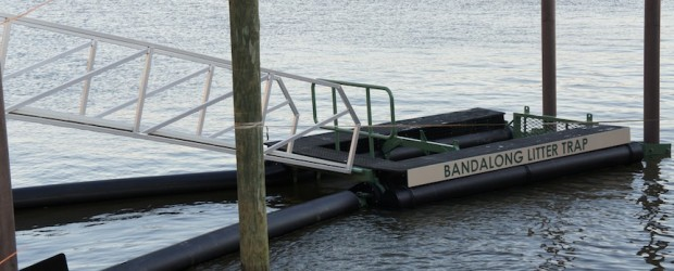 Bandalong Litter Trap in James Creek Marina in Washington, DC