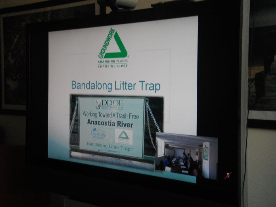 Bandalong Litter Trap at EPA's Environmental Justice Brown Bag Series